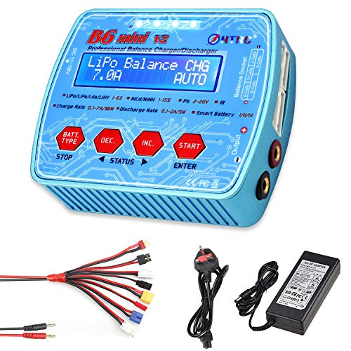 HTRC Lipo Battery Charger, 80W 7A 1S - 6S B6 Mini V2 Balance Charger...