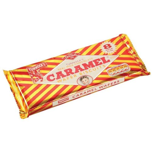 Tunnock's Real Milk Chocolate Caramel Wafers 8 Pack of 30g