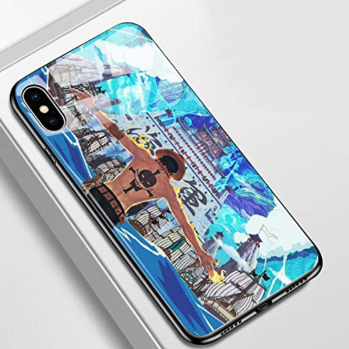 Carcasa de Cristal Templado para iPhone 6, 6S, 7, 8 Plus, X, XR, XS y XS MAX, diseño de Anime One Piece Zoro Luffy-Photo_Color_12_Mini
