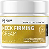 Neck Firming Cream, Anti Aging Moisturizer, Skin Tightening and Crepe Skin Repair Cream, Double Chin Reducer 2 Fl Oz.
