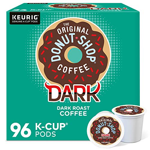 The Original Donut Shop Dark Coffee, Keurig Single-Serve K-Cup Pods, Dark Roast, 96 Count