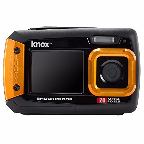Knox Gear Dual-Screen 20MP Rugged Underwater Digital Camera with Video (Orange)