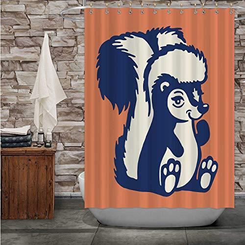 Hitecera Skunk Skunk,Bath Curtain Modern Bathroom Accessories, 2015 Machine Washable 84''Wx72''H