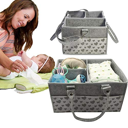 Baby Diaper Caddy Organizer,Baby Diaper Caddy,Large Organizer Tote Bag for Infant Boy or Girl,Baby Gifts for Baby Shower,Collapsible Newborn Caddie Car Travel