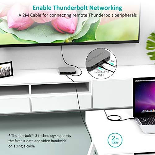 Thunderbolt 3 Zertifiziert USB C Kabel(2M/6.5FT), CHOETECH 40Gbps/100W Aktiv Kabel, 5K UHD Display Kompatibel mit MacBook Pro 2019/2018/2017, LG 5K Ultrafine Display(Nur Thunderbolt 3 Kompatibel)