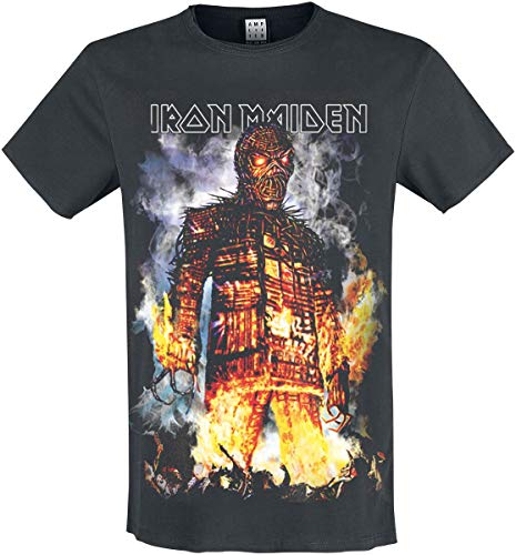 Amplified - Iron Maiden The Wickerman - Unisex T-Shirt Charcoal