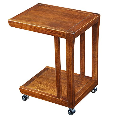 Xiaolin La Table Simple de Bord de Sofa de Coin en Bois de Mini Peut déplacer la Petite Table Basse carrée de Chambre à Coucher