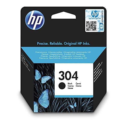 HP 304 Schwarz Original Druckerpatrone für HP DeskJet 2630, 3720, 3720, 3720, 3730, 3735, 3750, 3760, HP ENVY 5020, 5030, 5032