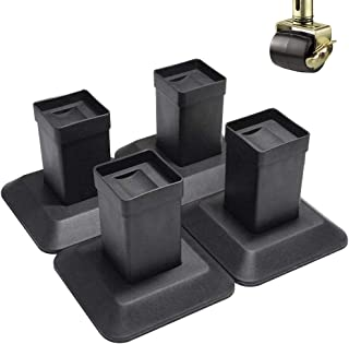MEETWARM 5.5 Inch Bed Risers Heavy Duty Furniture Riser Lifter for Couch Sofa Table, with Protective Foam Pads, Set of 4