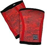 RedLine Gear Knee Sleeves (pair) (Fire Red, 36-39cm (Large))