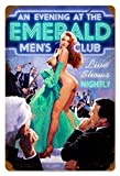 Ylens Emerald Evening - Pin-Up Girl Retro Tin Metal Sign Vintage Wall Decor Metal Plaque Poster for Home Club Bar Pub Tavern Coffee Cafe BBQ Garage Shop 8 x 12 Inches