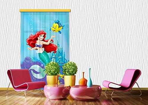 AG Design FCC L 4112/rideau Voilage pour Chambre d'enfant Motif Ariel Disney