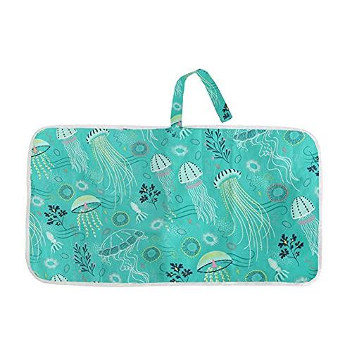 WangQianNan Plegable Pájaro Pad Viajes Impermeable Pañal Pad Multifuncional Portátil Pañal Cubierta Pad Limpieza Mano Plegable Pañal Bolsa Esenciales de Viaje (Color : W)