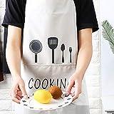 YEFAF Wasserdicht Schürzen Kochschürze, 2 Stück Couples Küchenschürze mit Taschen, für Herren und Damen Koch, Cupcake, Café - 3