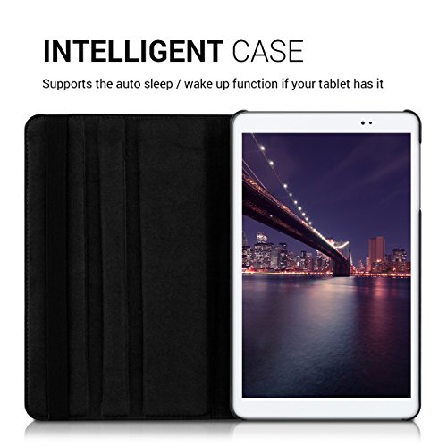kwmobile Huawei MediaPad T1 10 Hülle - 360° Tablet Schutzhülle Cover Case für Huawei MediaPad T1 10 - Schwarz - 4