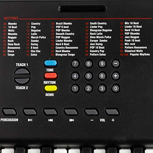 Rockjam 61 Tasto della Tastiera di Pianoforte con Supporto Foglio di Musica per Pianoforte Nota Potere Adesivo di Alimentazione e Semplicemente L'Applicazione Pianoforte