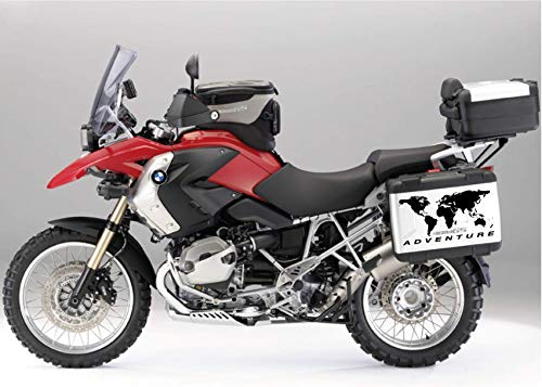 2 Stickers World Globe Stickers for BMW R 1200 1150 1100 GS Adventure Cases R GS Adv