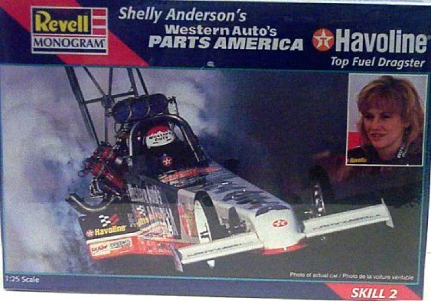 Revell Monogram 7651 Shelly Anderson's Western Auto's Parts America Havoline Top Fuel Dragster - Plastic Model Kit - 1 25 Scale - Skill Level 2