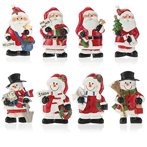com-four® 8X Kühlschrankmagnete Weihnachten, Magnete für Kühlschranktüren und Whiteboards, Verschiedene Weihnachtsmann & Schneemann Motive [Auswahl variiert]
