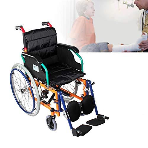 WHYTT Rollstuhl Faltbar Leichter Rollstuhl mit Steckachsen Trommelbremse, Medical Transportrollstuhl Bruttogewicht: 13kg Verpackungsgröße: 87cm * 33cm * 70cm