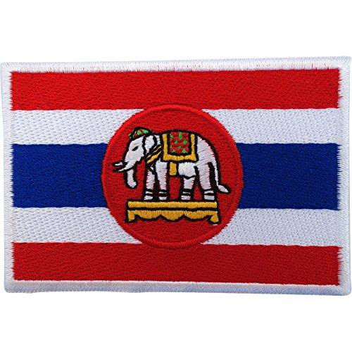 Bandera Tailandia parche hierro Sew bordado insignia