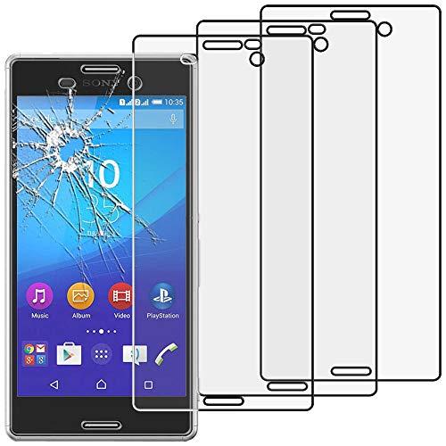 ebestStar - kompatibel mit Sony Xperia M4 Aqua Panzerglas x3 M4 Aqua Dual Schutzfolie Glas, Schutzglas Bildschirmschutz, Bildschirmschutzfolie 9H gehärtes Glas [M4 Aqua: 145.5 x 72.6 x 7.3mm, 5.0'']