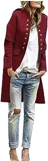 Women Autumn Solid Fashion Button Long Sleeve Cardigan Top Double-Breasted Coat Hoodies Outerwear Sweatshirt Coat Overcoat