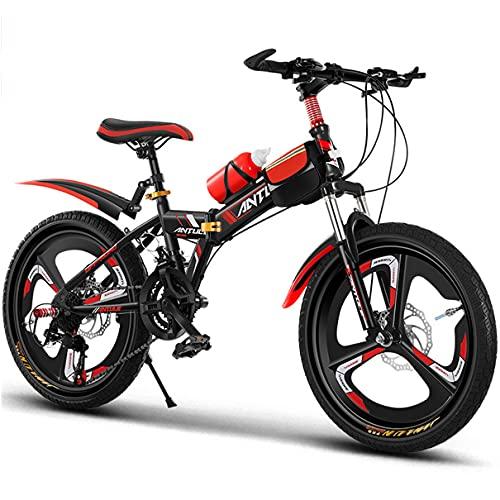 FLYFO para niños Bicicleta de montaña 21 velocidades Plegable Suspensión Bicicleta Exterior...