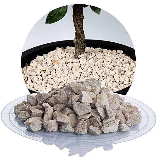 Schicker Mineral Kalksplitt Yellow Sun 25 kg Verschiedene Größen ideal zur Gartengestaltung, Beiger Naturstein Splitt (Kalk Splitt, 8-16 mm)