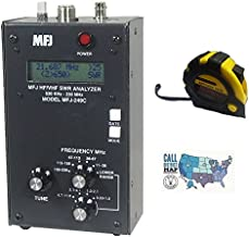Bundle - 3 Items - Includes MFJ-249C HF/VHF/220MHz Antenna/SWR Analyzer W/O Meters with The New Radiowavz Antenna Tape (2m - 30m) and HAM Guides Quick Reference Card