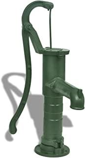 Tidyard Garden Hand Water Pump Garden Cast Iron Easy Installed and Mount Press Suction Outdoor Yard Ponds 25.6 x 15.7 x 5.9 inch