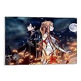 Sword Art Online - Póster de anime de Sao Kirito Asuna (50 x 75 cm)