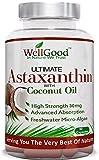 Astaxanthine naturelle 30mg d'huile de noix de coco - Vegan 90 Capsules - plus haute résistance - Natures plus puissant antioxydant ! -Repas végétariens amical - de WellGood