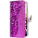 Uposao Samsung Galaxy S10 5G Glitter Coque Pochette Portefeuille en Cuir,Housse Paillettes Brillant...
