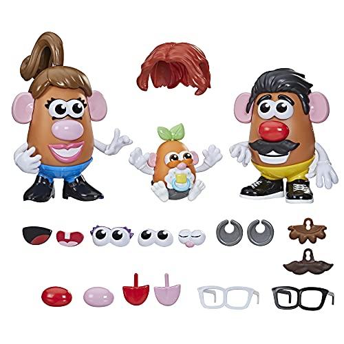 Mr Potato Head, La Famille Patate, 45 pièces pour Personnaliser la Famille Patate, Jouet pour Enfants, dès 2 Ans F1077 Multi