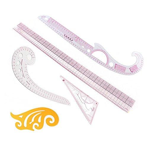Itian 5 Pezzi DIY Cucito Abbigliamento Governanti Modello Styling Design Craft Cucito Set di Strumenti di Misura