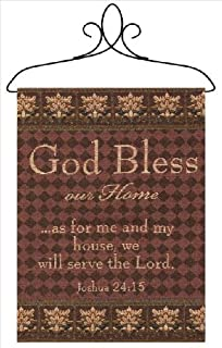 Manual Inspirational Collection Wall Hanging with Frame, God Bless Our Home, 12.5 X 18-Inch