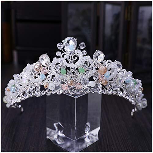 GAOJIAN Corona de Novia Tocado de Boda de Palacio Europeo Retro Joyas de Boda con Coronas de Princesa Super Hada