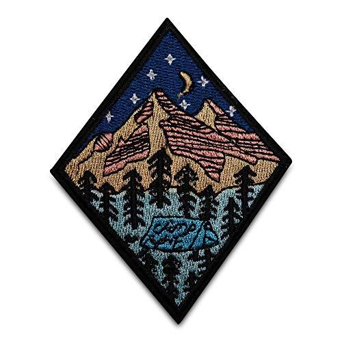 Finally Home Zelten in den Bergen Patch zum Aufbügeln   Camping Wald Patches, Bügelflicken, Flicken, Aufnäher