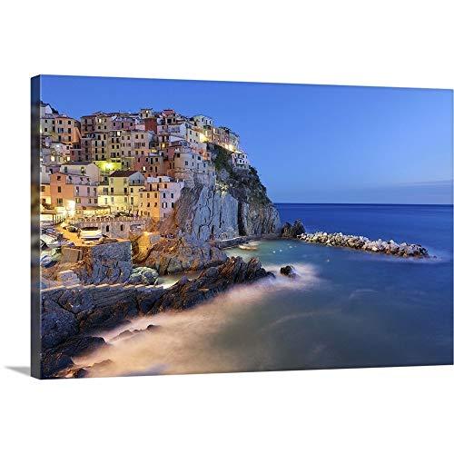 "Italy, Cinque Terre, La Spezia Province Canvas Wall Art Print, 60""x40""x1.25"""