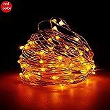WSYYWD Tira de luz LED a prueba de agua Tira de LED para decoración de fiesta de guirnalda de Navidad (sin batería) 3 piezas rojo 2m 20leds