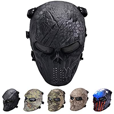 Outgeek Tactical Airsoft Mesh Mask Protective Full Face Costume Mask(Urban)