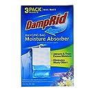 DampRid Lavender Vanilla Hanging Bag Moisture Absorber for Closets - Odor Eliminator - 3 pack (16oz. ea.); Traps Excess Moisture for Fresher, Cleaner Air