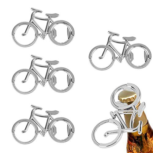 XWSZSZ1 Apribottiglie Forma di Bicicletta Regalo Creativo Metallo A Forma di Bicicletta Regalo Creativo Bicicletta in Metallo A Forma di Bicicletta Bottiglia di Birra Portachiavi Accessori 4 Pezzi