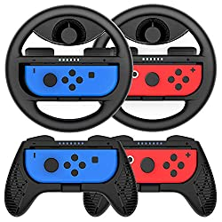 cheap Nintendo Switch Controller Handle-4 Set Racing Game Handle Steering Wheel Switch…