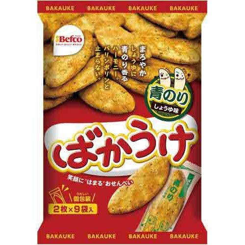 栗山米菓 ばかうけ青のり 18枚入