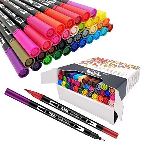 36 colores doble Rotuladores Punta Pincel,juego de rotulador