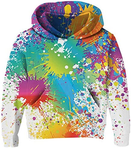 UNICOMIDEA Unisex Hoodies for Kids 3D Prints Sweatshirts Pullover with Pocket for 7-15 Years