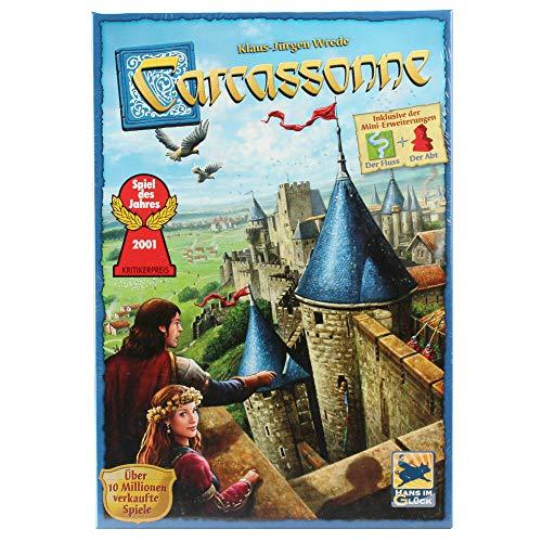Asmodee Carcassonne (Auflage 2018), Grundspiel, Familienspiel, Strategiespiel, Deutsch
