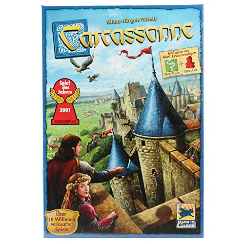 Hans im Glück HIGD0100 Asmodee Carcassonne: Neue Edition, Strategiespiel, Deutsch
